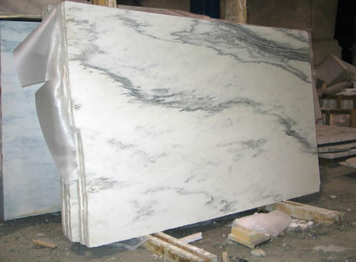Mountain White Danby Marble Slabs