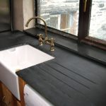 Mountain Black Slate With Drain Grooves